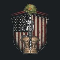 US Military Army Emblem Concept vector