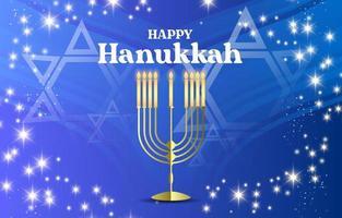 Happy Hanukkah Shining Background vector