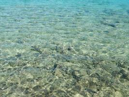 Texture of sea water in the Red Sea of Egypt photo