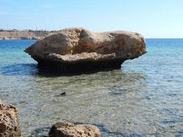 Stone texture on the Red Sea of Egypt photo