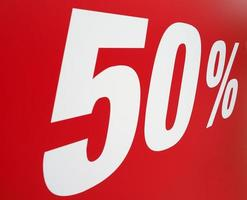 Sales discount sign photo