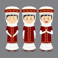 Kyrgyzstan  haracter with Various Expression vector