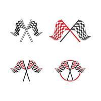 Race flag icon design vector