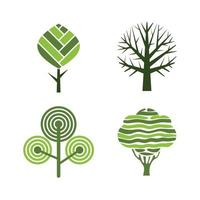 Tree badges abstract graphic nature eco pictures simple growth plants vector emblem