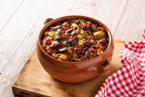 Traditional mexican tex mex chili con carne photo