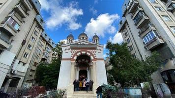 Bucharest, Romania 2021- Classical old Romanian christian orthodox church photo