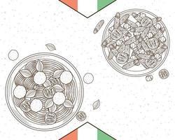 marco de pastas italianas vector