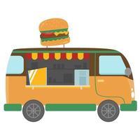 burger food truck vector design