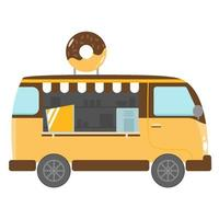 donut food truck vector design