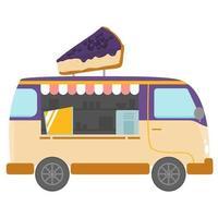 cheesecake food truck vector design