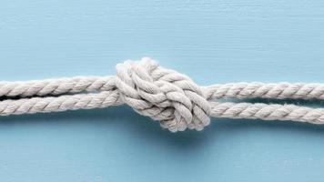 ship white ropes with knot photo