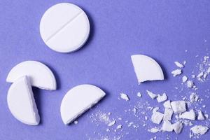 top view crushed pills photo