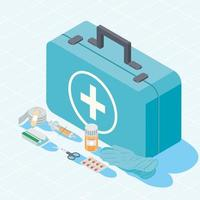 kit and first aid icons vector