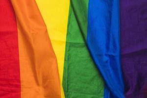 colores de tela ondulada arcoiris foto