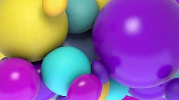 3D round ball abstract background video