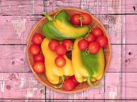 Vegetables on wooden background video