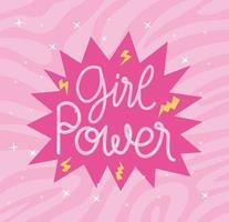 girl power phrase vector