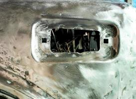 Texture of shiny scratch surface steel body of car photo