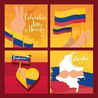 manifestación de protesta colombia vector