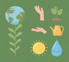 planet environment and ecology vector