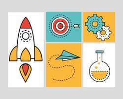creativity innovation set vector