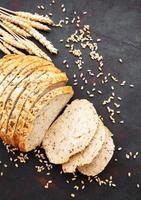 Bread with wheat ears photo