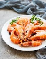 Shrimps on a plate photo