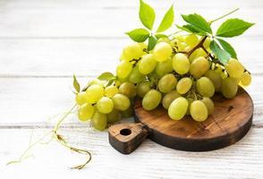 Fresh green grape photo