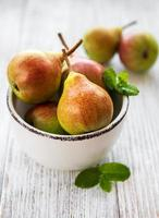 Pears in a bowl photo