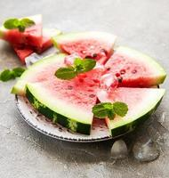 Watermelon with ice photo