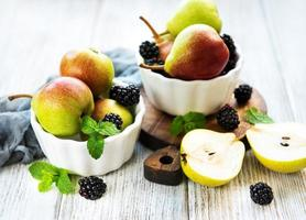 Pears on a bowl photo