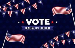fondo de elecciones generales de estados unidos vector