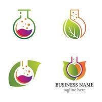 Laboratory logo icon set vector