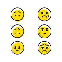 Sad Emotion Vector icon design illustration