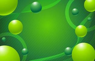 Bubbly Fresh Green Simple Background vector