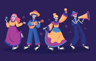 Dia De Los Muertos Characters vector