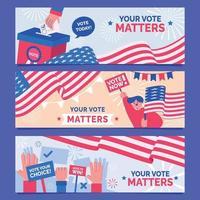 bandera de las elecciones generales de los estados unidos vector