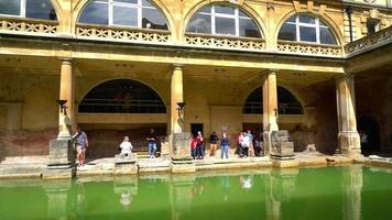 Roman Bath in Bath City, United Kingdom video