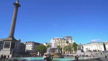 Trafalgar Square in London City, England, UK video