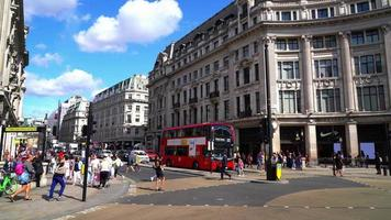 shopping area at Oxford Circus in London, England, UK video