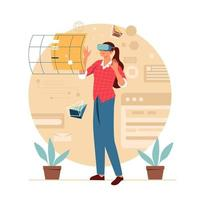 Woman With Technology vector