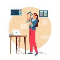 Women In Technology Concept vector