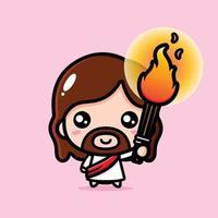 cute jesus christ cartoon design vector