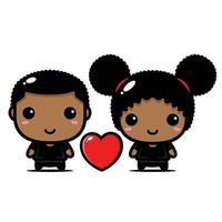 boy and girl love each other vector