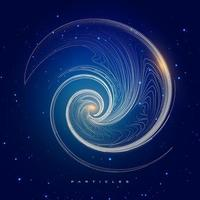 Abstract particles background element, hi-tech and big data algorithms visualization vector illustration with shining dot composed