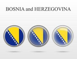 Flag of Bosnia and Herzegovina in the form of a circle vector