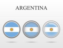 Flag of Argentina country in the form of a circle vector