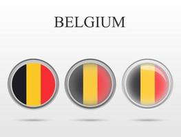 Flag of Belgium in the form of a circle vector