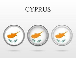 Flag of Cyprus in the form of a circle vector