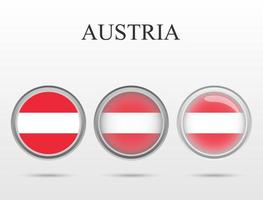 Flag of Austria in the form of a circle vector